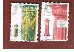 GRAN BRETAGNA.GREAT BRITAIN -  SG 2316.2317  -  2002 PILLAR BOX    - USED - 1952-.... (Elisabetta II)