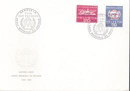 Svizzera - 1960 - Nazioni Unite - Nn.408/409 - Busta FDC. - FDC