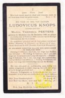 DP Ludovicus Knops ° Mechelen 1829 † 1903 X Maria Th. Peeters / Kapelleken Der Lange Heergracht / Hofken Van Oliveten - Devotieprenten