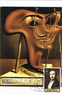 32501. Tarjeta Maxima FIGUERAS (Gerona) 1984. DALÍ Cuadro, Autorretrato Blando Con Bacon Asado - Tarjetas Máxima