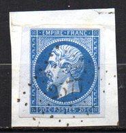 France 5 Exemplaires Napoléon III N° 14 Avec Bord De Feuille Oblitéré Sur Fragment - 1862 Napoleon III