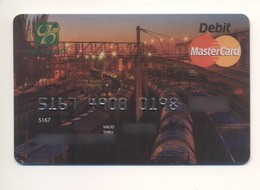 Credit Card Railway Train Bankcard Oschadbank Bank UKRAINE MasterCard Expired - Tarjetas De Crédito (caducidad Min 10 Años)