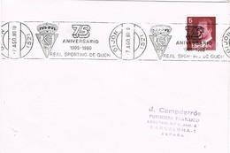 32503. Carta GIJON (Asturias) 1980. Rodillo FUTBOL 75 Aniversario Sporting Gijon - 1931-Hoy: 2ª República - ... Juan Carlos I