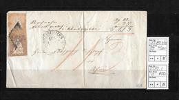 1854-1862 Helvetia (Ungezähnt) Strubel → Rautenentwertung & Rundst. ZWEISIMMEN ►SBK-25B1.II/III & 22B2.I◄ - Lettres & Documents