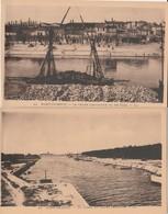 2 CPA  13  PORT DE BOUC COURS LANDRIVON LE CANAL - Frankrijk