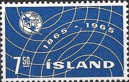 ICELAND 1965 Centenary Of I.T.U - 7k50 Sound Waves MH - 1944-... Republique