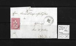 1854-1862 Helvetia (Ungezähnt) Strubel → Brief Rundstempel SCHWANDEN Nach St.Gallen ►SBK-24B4.V◄ - 1854-1862 Helvetia (Non-dentelés)