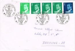 32505. Carta VIGO (Pontevedra) 1981. Exposicion Filatelica Galaico Portuguesa IBEREX 81, Viñeta, Label - 1931-Hoy: 2ª República - ... Juan Carlos I