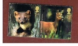 GRAN BRETAGNA.GREAT BRITAIN -  SG 2479.2480  -  2004 ANIMALS: 2  DIFFERENT STAMPS SE-TENANT   - USED - 1952-.... (Elisabetta II)