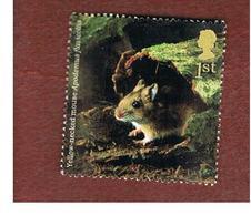 GRAN BRETAGNA.GREAT BRITAIN -  SG 2482  -  2004 ANIMALS: APODEMUS FLAVICOLLIS   - USED - 1952-.... (Elisabetta II)