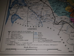 Carte Vinicole Ferret A Bordeaux 1855 1930 - Afiches