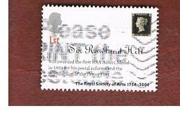 GRAN BRETAGNA.GREAT BRITAIN -  SG 2473  -  2004 ROYAL SOCIETY OF ARTS: SIR R. HILL   - USED - 1952-.... (Elisabetta II)