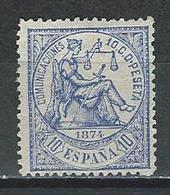 Spanien Mi 137  (*) No Gum - 1873-74 Regentschaft