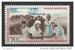 "Gabon Aerien YT 30 (PA) "" Evolution Sociale "" 1964 Neuf** - Gabon"