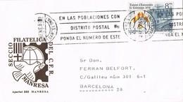 32510. Carta MANRESA (Barcelona) Rodillo Correos. Seccion Filatelica - 1931-Hoy: 2ª República - ... Juan Carlos I