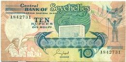 10 ROUPIES 1989 - Seychelles