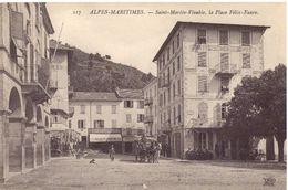 Saint Martin Vésubie La Place Félix Faure - Saint-Martin-Vésubie