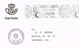 32511. Carta TOLEDO 1979. Franquicia Administracion Correos. Rodillo CORPUS CHRISTI, Fiesta Mayor - 1931-Hoy: 2ª República - ... Juan Carlos I