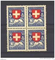 Suisse  -  1926  :  Yv  225  **       Bloc De 4 - Pro Juventute