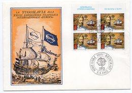 YUGOSLAVIA,05.05.1992, SPECIAL COVER: EUROPA RICCIONE 28TH PHILATELIC EXHIBITION - 1992-2003 Federal Republic Of Yugoslavia