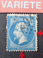 R1917/147 - NAPOLEON III N°22 - LGC - VARIETE ➤➤➤ Retouche Du Pourtour (RARE) - 1862 Napoléon III