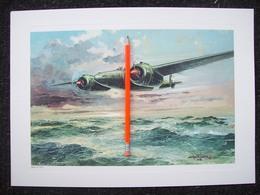 STAMPA AEREO  BREDA 88  1937 CON DISEGNO DI AMLETO FIORE - Posters