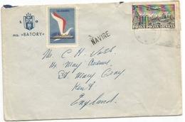 Polska Poland Paquebot Navire CV From MS Batory 21jun1953 To England - 1944-.... République