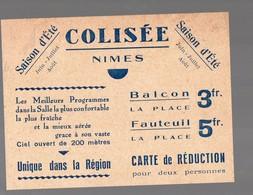 Nimes (30 Gard) Carte De Réduction COLISEE (PPP18090) - Tickets D'entrée