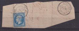 """FRANCE : N° 14 . 1860 . SUR FGT . OBL CAD SARDE . """"MODANE """" . UNE MARGE COURTE . - Storia Postale (Francobolli Sciolti)"""