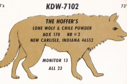 AN14 QSL Card - Lone Wolf And Chile Powder - CB