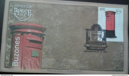 RL) 2011 CHILE, AMERICA UPAEP, MAILBOX, BOXERS, RED, 290P, FDC - Chile