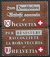 Schweiz Suisse 1942: Zusammendrucke / Se-tenant  Zu Z34c Mi SZd.2  ** MNH (Zu CHF 28.00) - Se-Tenant