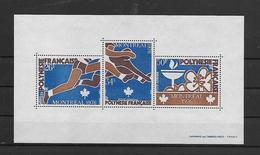POLYNESIE FRANCAISE-BLOC - SUPERBE BLOC N° 3 NEUF * *-XXIes JEUX OLYMPIQUES DE MONTREAL - DE 1976 - Blokken & Velletjes