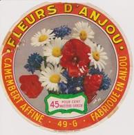 ETIQUETTE CAMEMBERT FLEURS D'ANJOU 49 G - Quesos