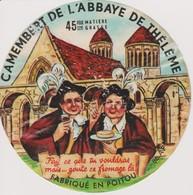ETIQUETTE CAMEMBERT DE L'ABBAYE DE THELEME - Quesos