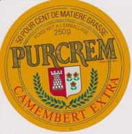 ETIQUETTE CAMEMBERT PURCREM - Quesos