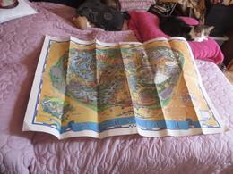 Tres Grand Plan DISNEYLAND De 110 Cm  X  75 Cm - Maps