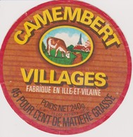 ETIQUETTE CAMEMBERT VILLAGES RETIERS 35 G - Quesos
