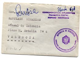 Carta Con Matasello Correspondencia Diplomatica Fraquicia Postal Hispano-americana. - Franquicia Postal
