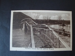 Zerstörte Brücke über Die Die Südliche Morava, Ungelaufen - Serbien