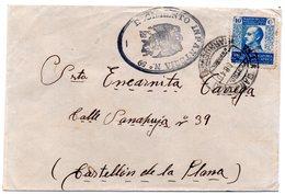 Carta Con Matasellos  De Marruecos Y Matasellos De Regimiento De Infanteria Nº 59 - Marruecos Español