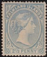 Falkland Islands .   SG   .  27   Pale Chalky Ultramarine (2 Scans)  .   *  .     Mint-hinged  .    /    .   Ongebruikt - Falklandeilanden