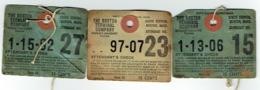 Etiquette. The Boston Terminal Company. South Station, Boston.Railway.Lot De 3 étiquettes. - Chemin De Fer