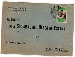 Carta Con Matasellos  De Tetuan  Dirigido A Valencia. - Marruecos Español