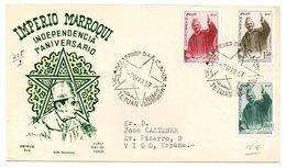 Carta Con Matasellos  De Tetuan Certificada A Vigo. 1957 - Marruecos Español