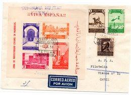 Carta Con Matasellos  De Censura Militar Tetuan Carta  Certificada 1938. - Marruecos Español