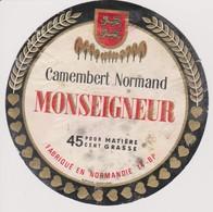ETIQUETTE CAMEMBERT MONSEIGNEUR - Quesos