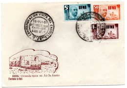 Carta Con Matasellos  Commemorativo Visita Del Caudillo Sidi-ifni. 1951 - Ifni