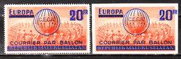 E87/87ND**  Courrier Par Ballon Franco-belge - Série Complète - MNH** - LOOK!!!! - Erinnophilie