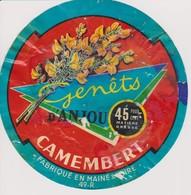 ETIQUETTE CAMEMBERT GENETS D'ANJOU - Quesos